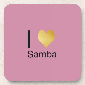 Playfully Elegant I Heart Samba Coaster