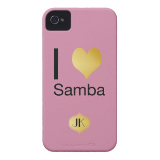 Playfully Elegant I Heart Samba iPhone 4 Cases