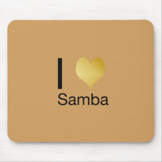 Playfully Elegant I Heart Samba Mouse Pad