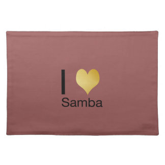 Playfully Elegant I Heart Samba Placemat