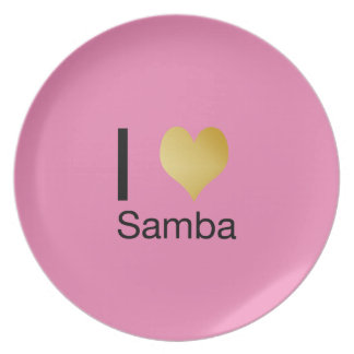 Playfully Elegant I Heart Samba Plate