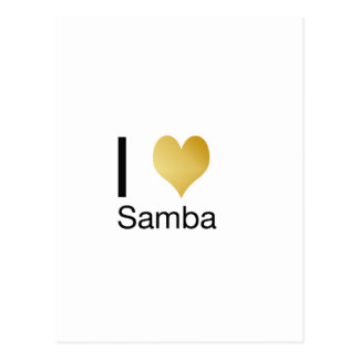 Playfully Elegant I Heart Samba Postcard