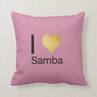 Playfully Elegant I Heart Samba Throw Pillow