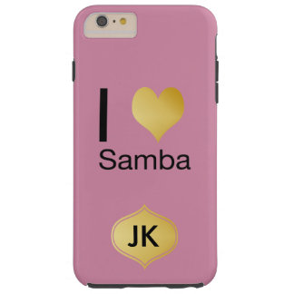 Playfully Elegant I Heart Samba Tough iPhone 6 Plus Case