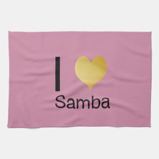 Playfully Elegant I Heart Samba Towel