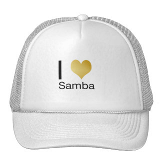 Playfully Elegant I Heart Samba Trucker Hat
