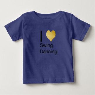 Playfully Elegant  I Heart Swing Dancing Baby T-Shirt