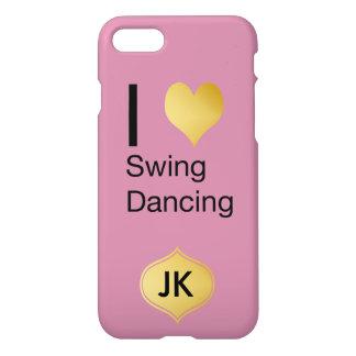 Playfully Elegant  I Heart Swing Dancing iPhone 8/7 Case