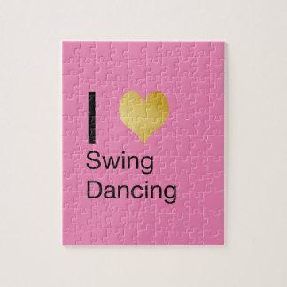 Playfully Elegant  I Heart Swing Dancing Jigsaw Puzzle