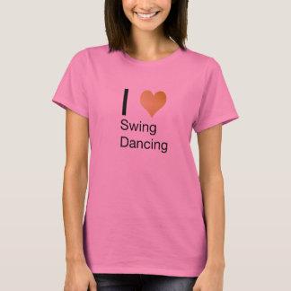Playfully Elegant  I Heart Swing Dancing T-Shirt