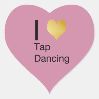 Playfully Elegant  I Heart Tap Dancing Heart Sticker