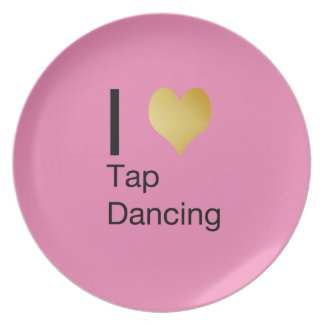 Playfully Elegant  I Heart Tap Dancing Party Plates