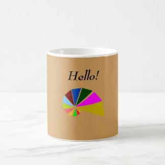 Playfully Geometric Snail Coffee Mug