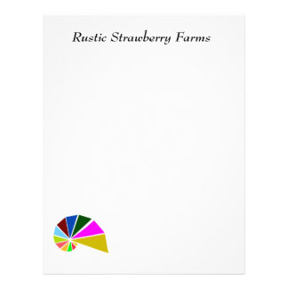 Playfully Geometric Snail Letterhead