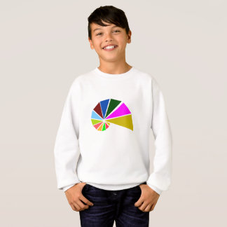 Playfully Geometric Snail Sweatshirt