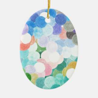 Playfully picturesque ceramic ornament
