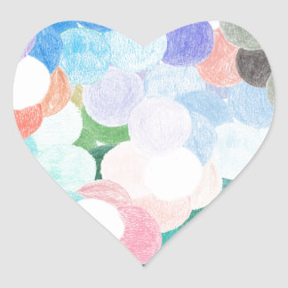 Playfully picturesque heart sticker