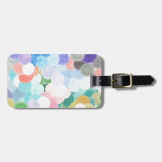 Playfully picturesque luggage tag