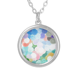 Playfully picturesque silver plated necklace