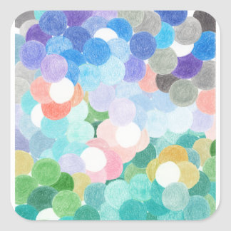 Playfully picturesque square sticker