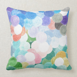 Playfully picturesque throw pillow