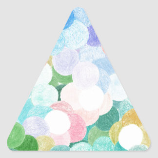 Playfully picturesque triangle sticker