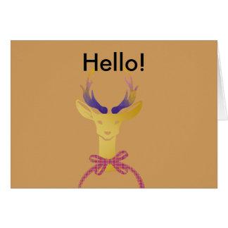 Playfully Preppy Gold Deer Antler Card