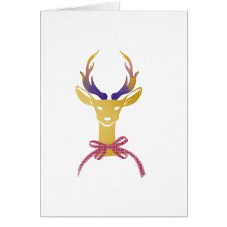 Playfully Preppy Gold Deer Antler Monogram Card