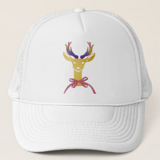 Playfully Preppy Gold Deer Antler Monogram Trucker Hat