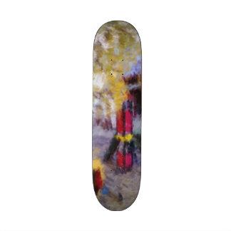 Playground art photo skateboard deck