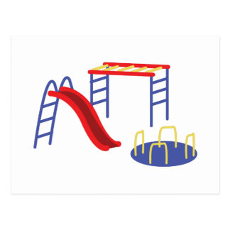 Playground Equipment Postcard