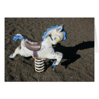 Playground horse card