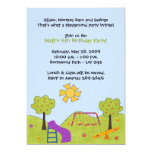 "Playground Invitations 5"" X 7"" Invitation Card"