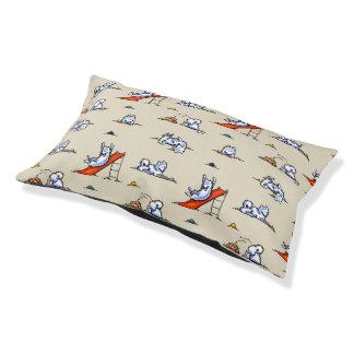 Playground Samoyed Eskie Light Tan Small Dog Bed