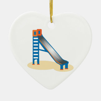 Playground Slide Ceramic Ornament
