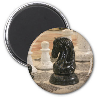 Playing a game of Chess 2 Inch Round Magnet