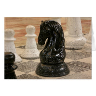 Playing a game of Chess Card