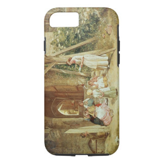 Playing at Schools, 1857 (oil on panel) iPhone 7 Case