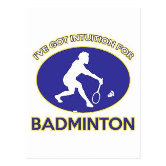 Playing  badminton postcard