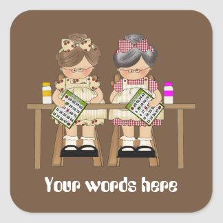 Playing Bingo customizable fun add words sticker