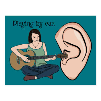 Playing By Ear Postcard
