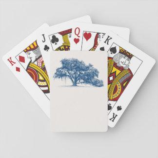 Playing card Florida Georgia Oak tree Spanish moss