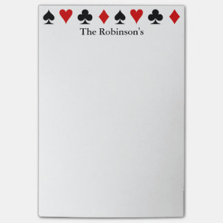 Playing Card Score Pad | Personalized Post-it Notes
