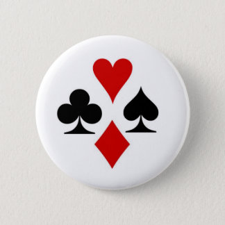 Playing card suit badge 2 inch round button