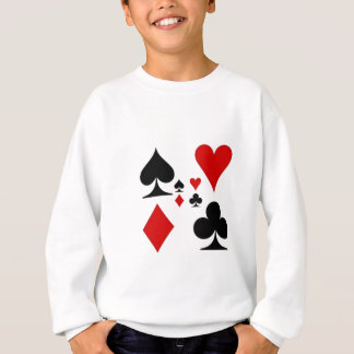 PLAYING CARD SUITES GIFTS SWEATSHIRT