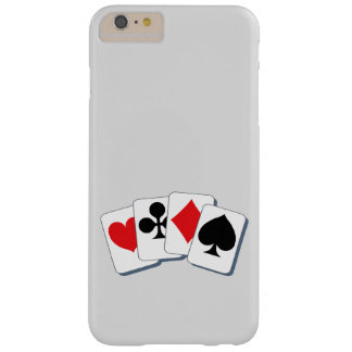 Playing Card Suits Barely There iPhone 6 Plus Case