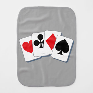 Playing Card Suits Burp Cloth