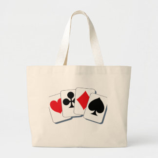 Playing Card Suits Large Tote Bag