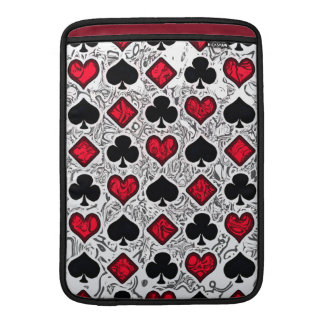 PLAYING CARD SUITS MacBook Air Sleeve
