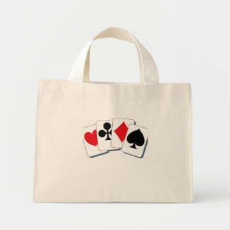 Playing Card Suits Mini Tote Bag